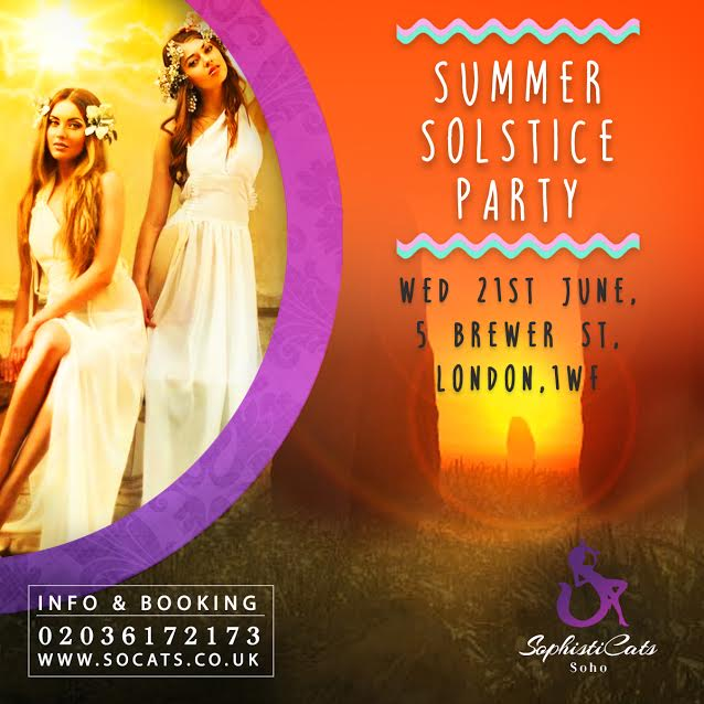 summer solstice part at strip club London